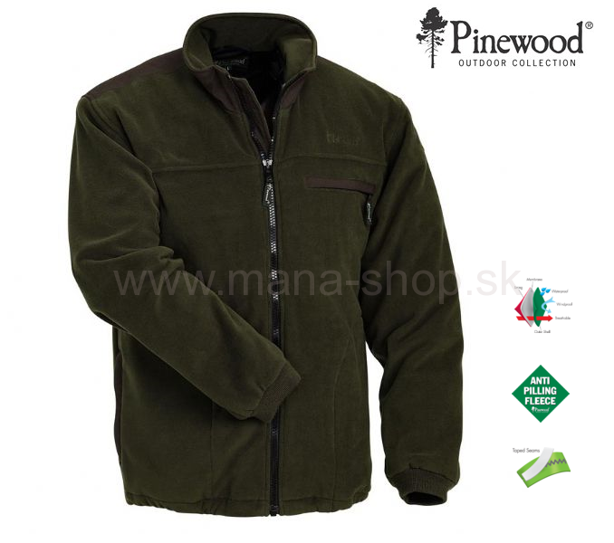 a3d3cd3bfb Fleece bunda Ontario PINEWOOD zelená