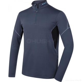 Pánske termo tričko s dlhým rukávom na zips ACTIVE WINTER antracit HUSKY  empty d22161decf